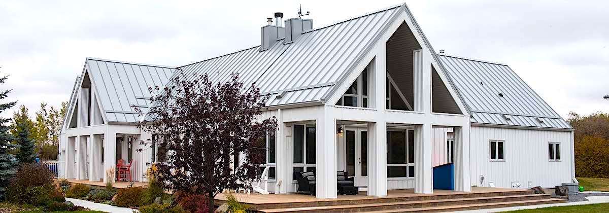 Stunning metal roof and residential exterior in calgary alberta